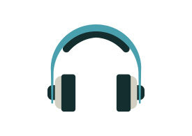 Headphones Flat Vector Icon