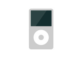 iPod Classic Flat Vector Icon