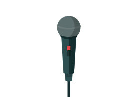 Microphone Free Flat Vector Icon