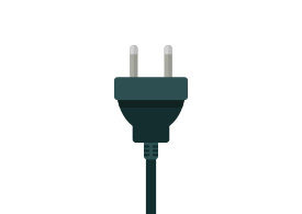 Power Cord Flat Vector Icon
