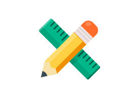 Ruler and Pencil Design Tools Free Vector