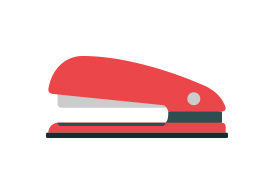 Stapler Flat Vector Icon