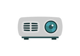 Video Projector Flat Vector Icon