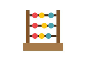 Abacus Free Flat Vector Icon