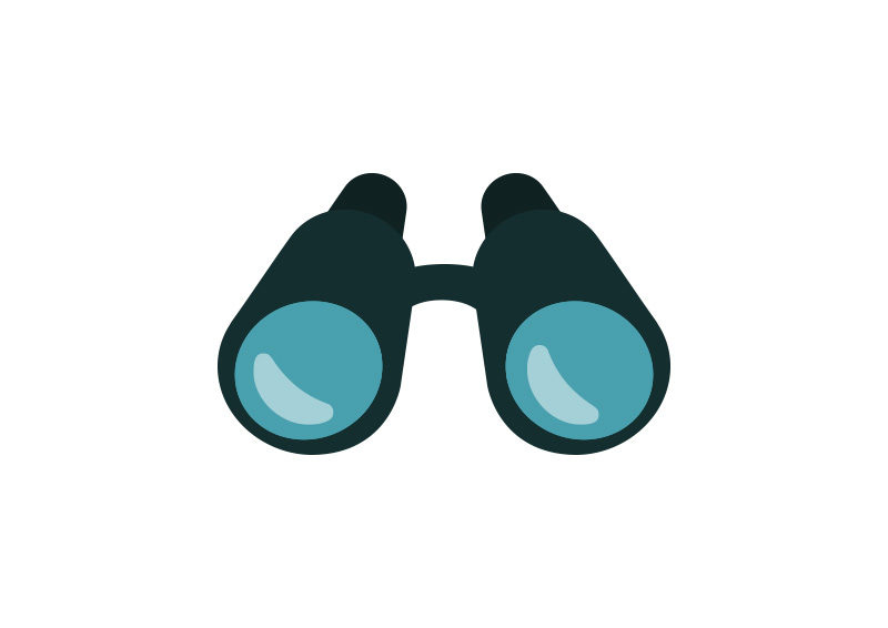 binoculars icon vector - photo #5