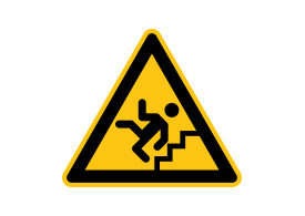 Caution Stairs Free Vector Sign