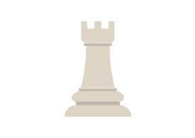 Chess Tower Flat Vector Icon