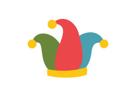Clown Hat Flat Style Free Vector Illustration