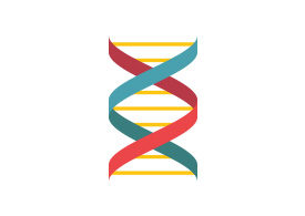 DNA Flat Style Vector Icon