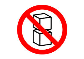 Do Not Stack Vector Sign
