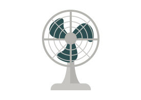 Electric Fan Free Flat Style Vector Illustration