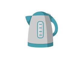 Electric Kettle Flat Vector Icon