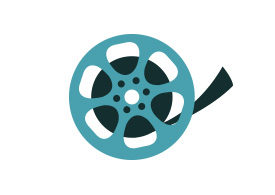 Film Reel Flat Vector Icon