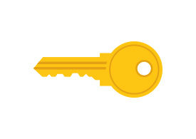 Key Free Flat Vector Icon