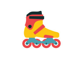 Roller Skate Free Flat Style Vector Icon