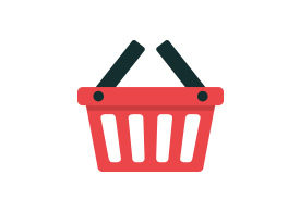 Shopping Basket Flat Vector Icon