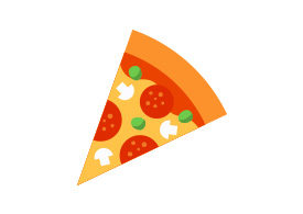 Slice of Pizza Free Flat Style Vector