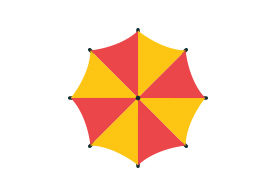 Umbrella Flat Vector