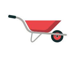 Wheelbarrow Flat Vector