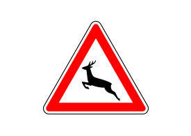 Animals Crossing Road Sign Vector