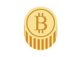 Bitcoin Flat Vector Icon