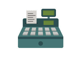 Cash Register Flat Vector Icon