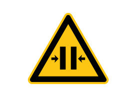 Caution Crush Hazard Vector Sign