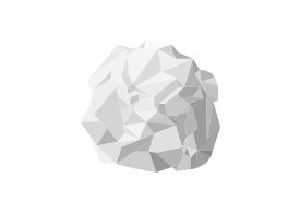 Crumpled Paper Ball Free Vector