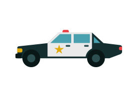 Police Car Free Flat Vector