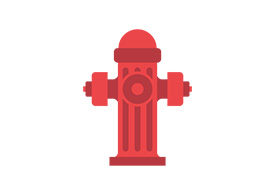 Street Fireplug Flat Vector Illustration