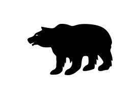 Bear Vector Silhouette