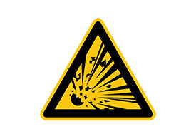 Caution Explosion Risk Free Vector