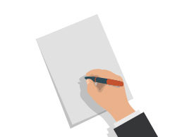 Hand Holding Pen Free Vector
