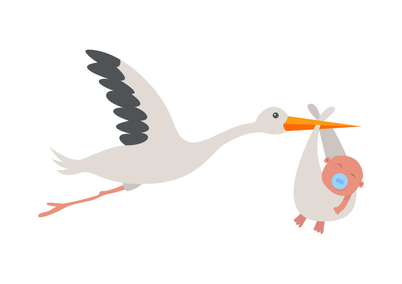 stork with baby vector illustration superawesomevectors rh superawesomevectors com stock vector rigs stock vector files
