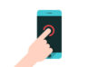 finger-touching-smartphone-flat-vector-thumb