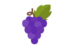 Grape Flat Vector