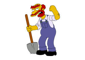 Groundskeeper Willie Simpsons Free Vector