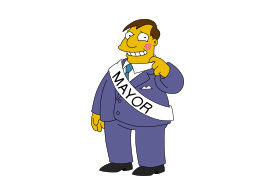 Mayor Quimby Simpsons Vector Character