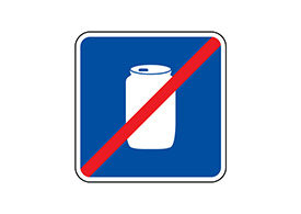 No Cans Free Vector Sign