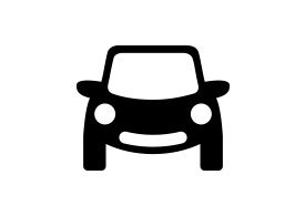 Smiling Car Free Vector Icon