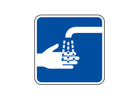 Wash Your Hands Vector Sign