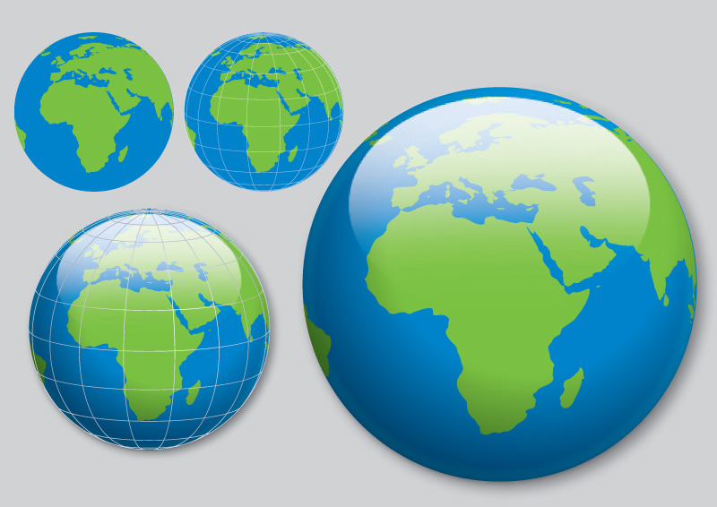 globe free vector - free vector download