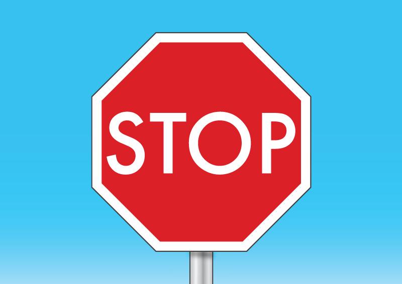 roadside stop sign vector - free vector download