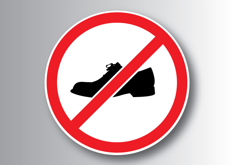 Image result for no shoes sign