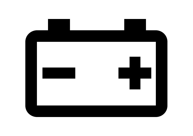 Car Battery Icon Free Vector Superawesomevectors