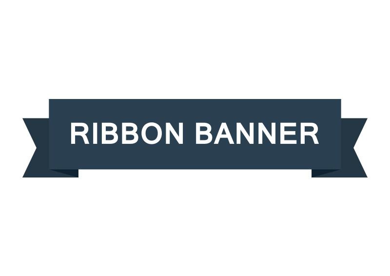 Flat Ribbon Banner Vector
