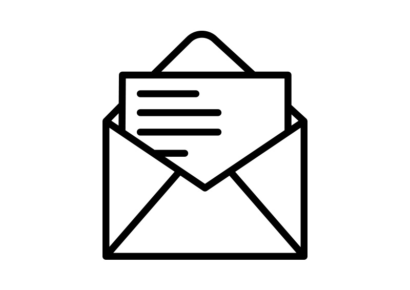 Letter Outline Vector Icon