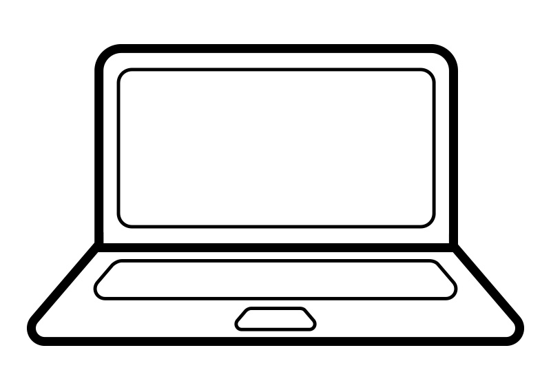 outline notebook computer vector icon free clipart of computer printers free clipart of computer hoarder