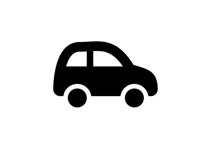 Black Simple Car Icon