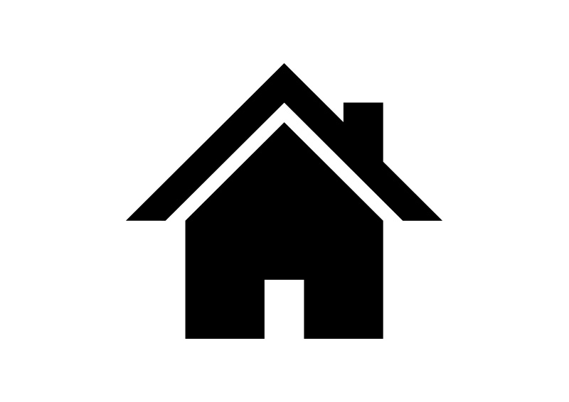 simple home icon free vector